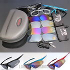 Rimless Cycling Sunglasses Set Changeable Lens Biking Fishing Driving Polarized