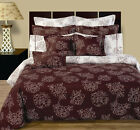 12pc Luxury Bed in a Bag Cloverdale Floral Design with Duvet Cover & Comforter