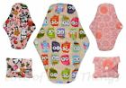 Reusable Washable Cloth Feminine Menstrual Sanitary Mama Pads Minky & Bamboo
