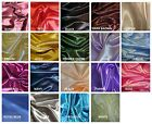 Bridal Satin Fabric Yard Wedding Bridal Banquet Favor Dress Costume Craft Cloth