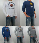 Abercrombie & Fitch A&F Men Slim Muscle Fit Summit Rock Tee Long Sleeve Shirt