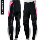 Ladies Cycling Trousers Cycle Winter Legging Tights CoolMax Padded Pink S,M,L,XL