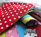40ft (12m) JILPI FABRIC BUNTING, PINK BLUE YELLOW RED WHITE PURPLE GREEN, NEW!