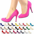 WOMENS LADIES SUEDE PATENT PARTY STILETTO HIGH HEEL COURT SHOES SIZE 3 4 5 6 7 8