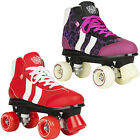 NEW ROOKIE RETRO GIRLS KIDS ADULTS RED PURPLE QUAD WHEELS ROLLER SKATES UK SIZE