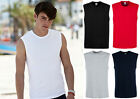 Fruit of the Loom Mens 3 Pack Cotton Sleeveless Tank Top Muscle T-Shirt Vest Top