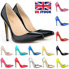 WOMENS Pattern HIGH HEEL POINTED CORSET STYLE WORK PUMPS COURT SHOES FL302 UK2-9