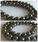 Faceted Hematite Beads 10mm 8mm 6mm 64 Facets 128 Facets