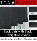 "89mm (3.5"") Replacement BLACK SLATS  with BLACK weights & chains"