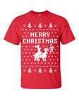 Merry Christmas Reindeer Humping Ugly Sweater Funny Men's TShirt B115