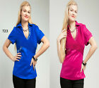 T23 New Womens Fashion Evening Party Wedding Work Chic Beads Top Blouse Size