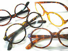 WALDO Big Round Reading Glasses Light Weight Tortoise Orange Geek Style