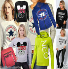 WOMEN'S NEW LADIES CONVERSE ALL STAR JUMPER SWEATSHIRT PULL OVER TOP SIZE 8-14