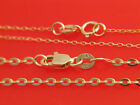 Genuine 10k yellow gold Necklace 1mm Cable Link chain **Real Italian Gold Chain* image