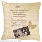 Sister Cushion | LACE | Gift Personalised | Christmas | Birthday