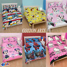Disney Kids Characters Official Double Bed Quilt / Duvet Cover Sets Free postage
