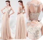 2015 New HOT Sexy Lace Formal Evening Long Gown Prom Party Ball Bridesmaid Dress