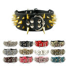 Spiked Studded PU Leather Dog Pet Collars Necklace for Pitbull Boxers
