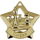 AM714 MINI STAR CHESS METAL MEDAL AND FREE RIBBON