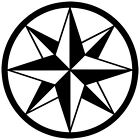 (C-3) TRIBAL COMPASS ROSE NAUTICAL STAR CAR BOAT BIKE WINDOW VINYL DECAL STICKER