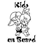 KIDS ON BOARD BABY BOY GIRL FLINTSTONES CAR WINDOW VINYL DECAL STICKER (BB-6)