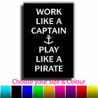 Quote Art Work Like a CaptainCanvas Print Box Framed Picture