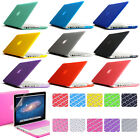"""Rubberized hard Cover Crystal case for Macbook AIR 11"""" 13"""" PRO 13"""" 15""""+Retina"""
