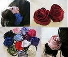 Stunning Handmade Satin Rose Hairband Pony Tail Elastic