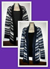 Womans Plus 1X Open Front Striped Cardigan New with Tags