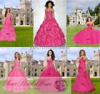 Designer hot pink plus evening party ball gowns prom dress size 8 10 12 14 16 18