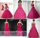 Designer hot pink 4 plus evening party ball gowns prom dress size 10 12 14 16 18