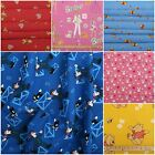 100% COTTON DISNEY CHILDRENS CHARACTER CARTOON CURTAIN CUSHION BEDDING FABRIC