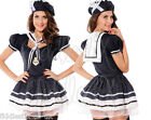 Naughty Nautical Navy Sexy Sailor Fun Fancy Dress Costume Outfit Sea Hen Party