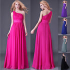 One Shoulder Chiffon Bridal Prom BallGown Wedding Party Evening Long Dress In UK