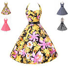2014 Grace Karin Vintage Retro 50s Sexy Pinup Rockabilly Housewife Halter Dress