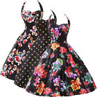 New Arrival! Ladies Housewife Rockabilly Pin Up Swing 50's Cotton Halter Dress