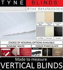 ***From only £15*** VERTICAL BLINDS - white or black headrail with 89mm slats