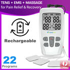Dual Channel TENS Machine EMS 3 in 1 Combo Unit Pain Relief Massager Physio C4C