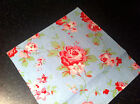 """Rosali Fabric,Cath Kidston for IKEA Blue Rose Patchwork Remnant 20x20 cm (8"""") SQ"""