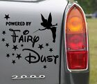 Tinkerbell Powered By Fairydust - Lovely Removable Car Wall Stickers Decal NEW