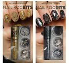 Nail RocKits 6 Piece Manicure Set With 3 Way Nail Pen, 2 Pots Of Studs & Caviar