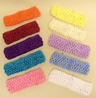 BABY GIRLS CROCHET HEADBAND VARIOUS COLOURS 1 1/2 INCHES WIDE NEWBORN UPWARDS