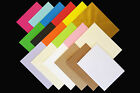 """50 5"""" x 7"""" Coloured Envelopes for Greeting Cards 100gsm ALL COLOURS"""