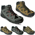 MENS NEW HIKING WALKING TRAIL BOOTS ANKLE HI TOPS TREKKING TRAINERS SHOES SIZE