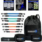 Speed Training Leg Resistance Bands plus DVD & Stretching Strap Kinetic Bands image