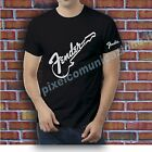 T SHIRT FENDER MUSIC GUITAR BASSO ROCK ELECTRIC CHITARRA MUSICA AMPLIFIERS