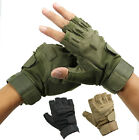 FINGERLESS TACTICAL GLOVES BIKERS SELF DEFENSE SECURITY KNUCKLE PAD