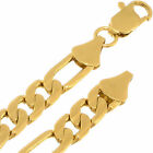 7 mm Thick Yellow Gold Layered Filled Plated 14k Overlay Figaro Link Neck Chain