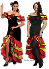 RUMBA Ladies Spanish Mexican Flemenco Fancy Dress Costume Size 10-14 or 14-16