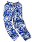 Zubaz Pants: Royal Blue/White Zubaz Zebra Pants- New